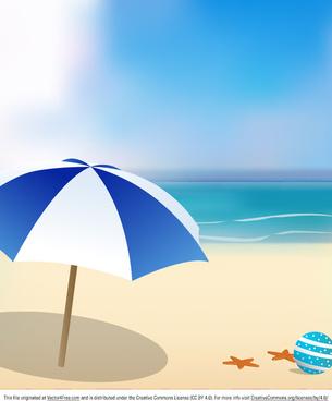 sunny beach background vector