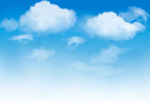 sunny blue sky background vector