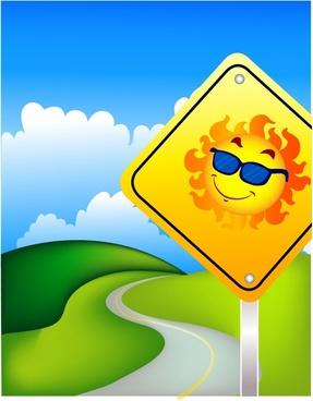 Sunny road ahead