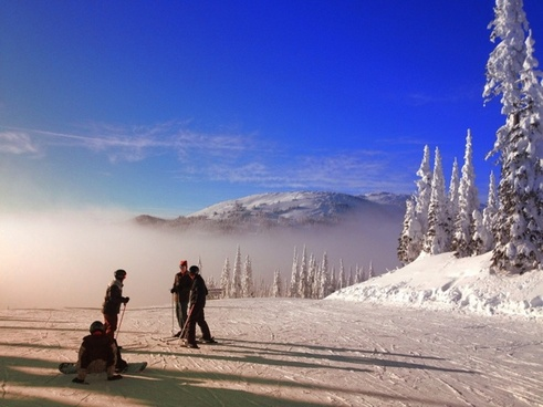 sunpeaks ski resort beautiful