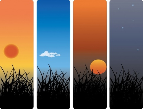 landscape background sets twilight theme vertical closeup design