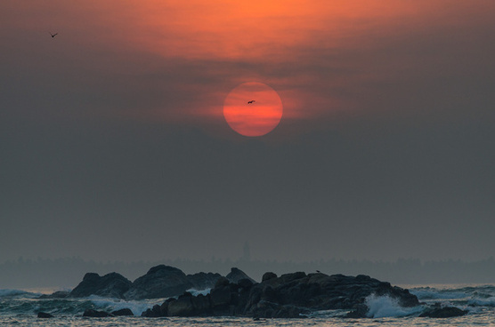 sunrise at polhena