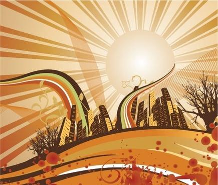 Sunrise Background Vector