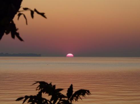 sunrise lake water