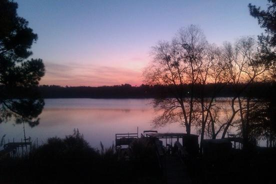 sunrise lake winter sunrise