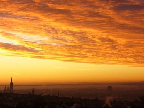 sunrise morgenrot sun