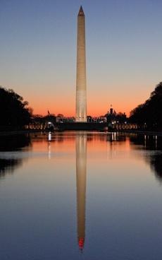sunrise washington monument washington dc