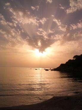 sunset abendstimmung sea