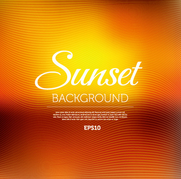 sunset abstract blurred background vector