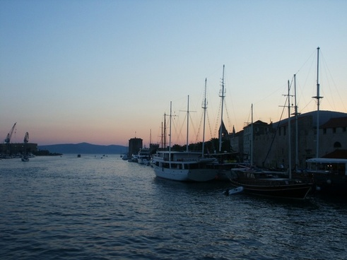 sunset adria sea