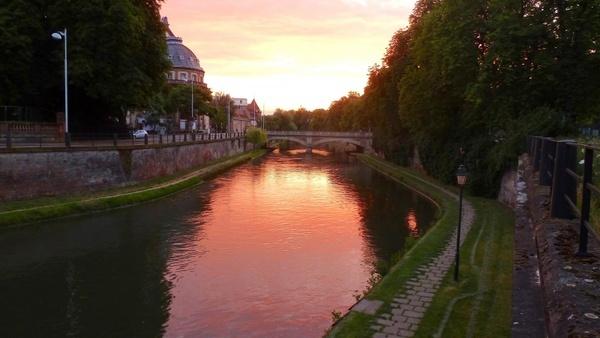 sunset city town