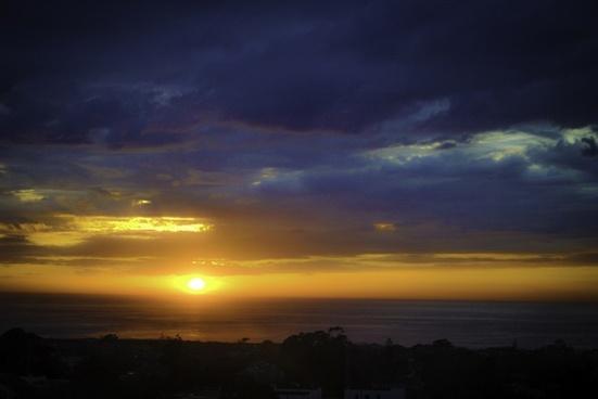 sunset clouds beach