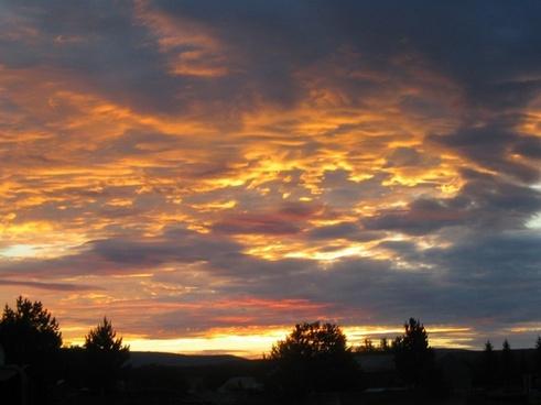 sunset clouds evening