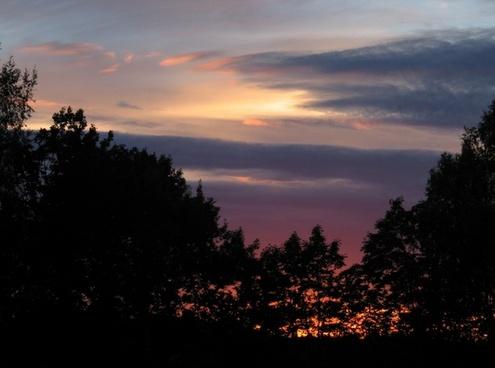 sunset clouds summer