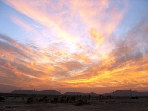 sunset desert sky