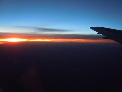 sunset evening sky afterglow