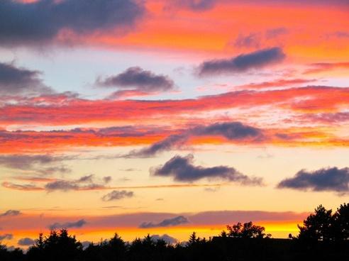 sunset evening sky sun sunset