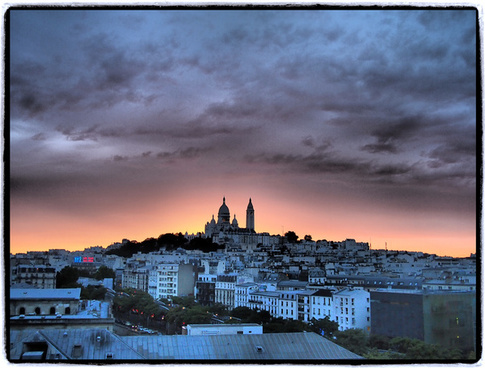 sunset fantasy over montmartre