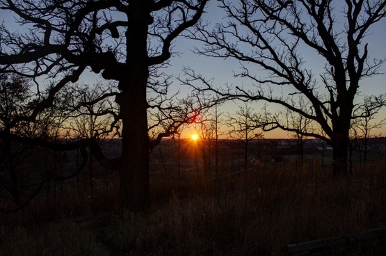 sunset from the hill in madison wisconsin