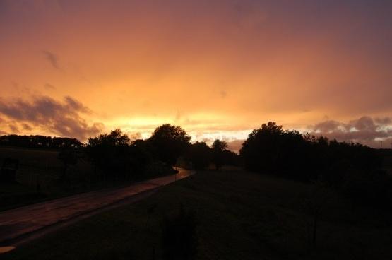 sunset germany landscape