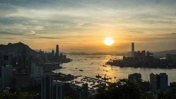 sunset hong kong