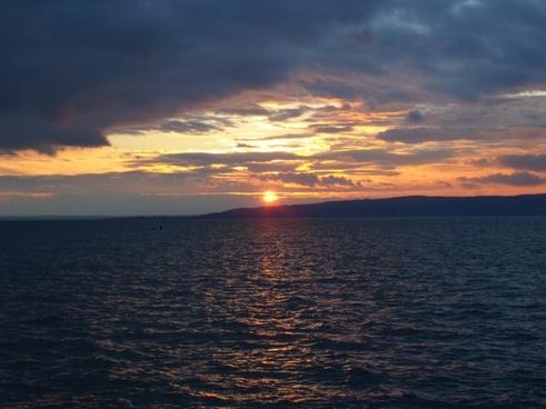 sunset horizon twilight