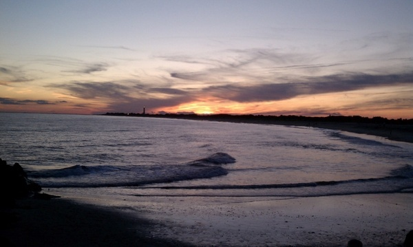 sunset in cape may nj