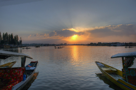 sunset in kashmir