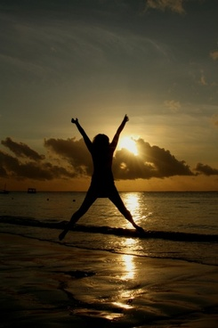 sunset jump beach
