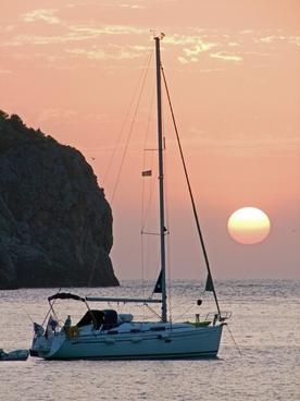 sunset mallorca sea