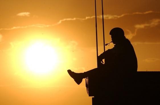 sunset man navy