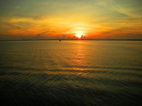 sunset ocean pacific