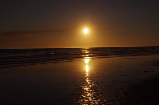 sunset ocean sky