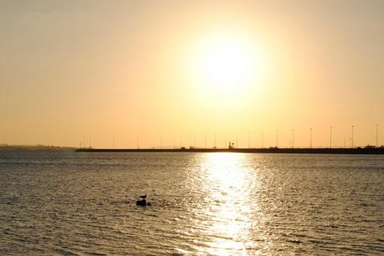 sunset of sun