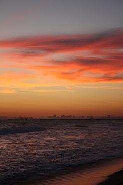 sunset on a california beach