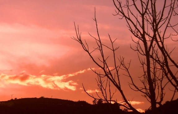 sunset on the chorro el indio