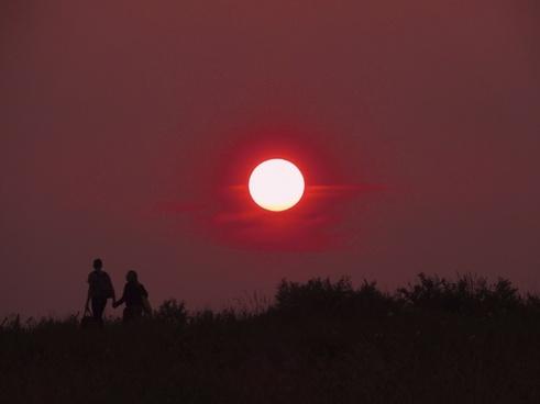 sunset red pair