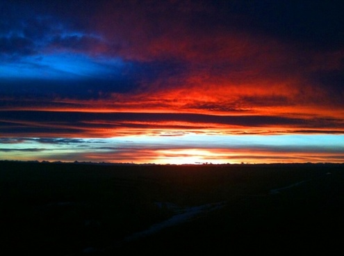 sunset rockies silhouette