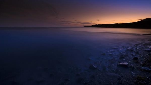 sunset sea evening glow