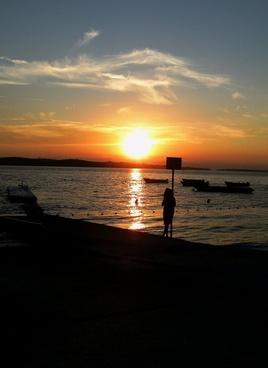 sunset sea sad