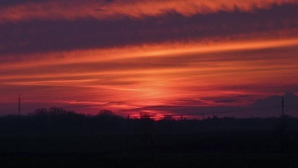 sunset sky horizon