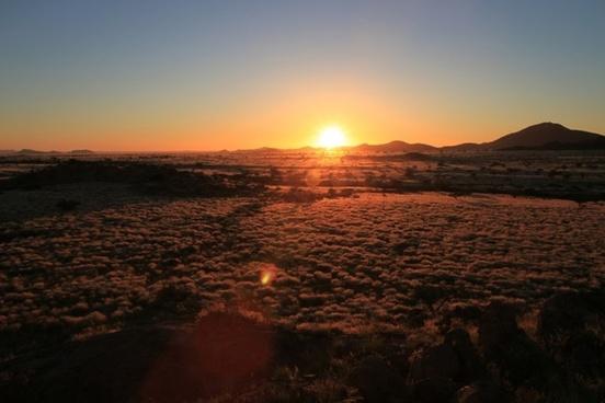 sunset steppe veld