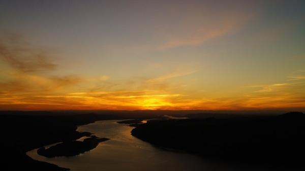 sunset summer landscape