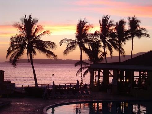 sunset sun sunset sea