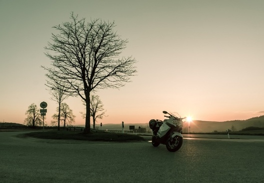 sunset sunny motorcycle