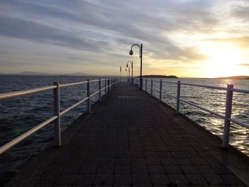 sunset web sea