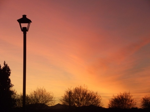 sunset with streetlight 2