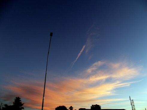 sunset with streetlight 3
