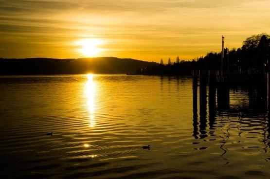 sunset yellow sun