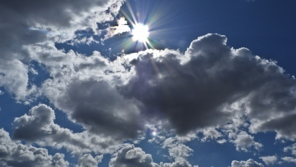 sunshine sky clouds